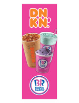 Dnkn' & BR 3'x8' Lamppost Banner 1