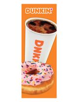 Dunkin' 3'x8' Lamppost Banner 1