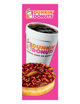 Dunkin' Donuts 3'x8' Lamppost Banner 1