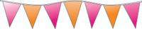Neon Orange & Pink  Pennants