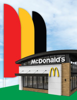 """McDonald's 3'x13' Feather Dancer Flag """"McDelivery"""""""
