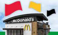 """McDonald's Flag """"Arch"""" Red"""