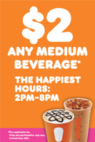 "Copy of Dunkin' 2'x3' ""Happiest Hours"" A-Frame  Inserts (Pair)"