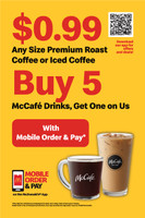 """McDonald's 2'x3' """"$0.99 Coffee"""" A-Frame Inserts (Pair)"""