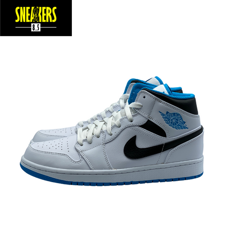 Air Jordan 1 Mid 'Laser Blue'  -  554724-141
