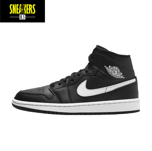 Wmns Air Jordan 1 Mid 'Black White' - BQ6472 011