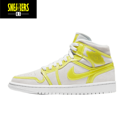 Wmns Air Jordan 1 Mid LX 'Off White Opti Yellow' - DA5552 107