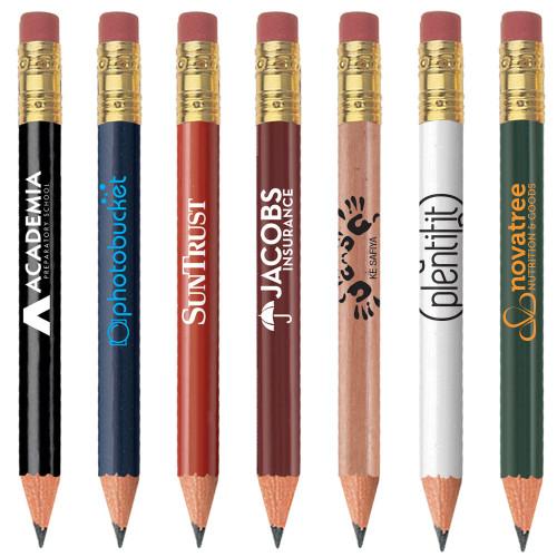 Golf Pencil (Round with Eraser)