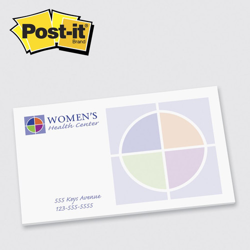 Post-it® Custom Printed Notes 3x5 - 50