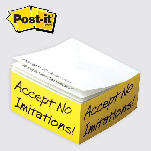 "Post-it® Custom Printed Notes Half-Cube — 4"" x 4"" x 2"""