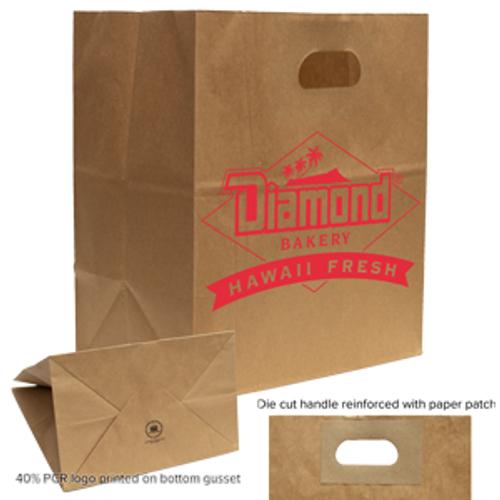 Kraft Die Cut Handle Bags - 10.25 x 11.8
