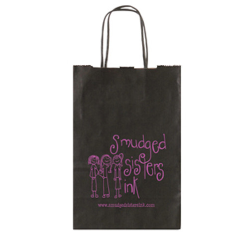 Solid Tinted Kraft Shopping Bags - 5.5 x 8.375