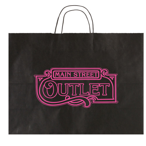 Solid Tinted Kraft Shopping Bags - 16 x 12