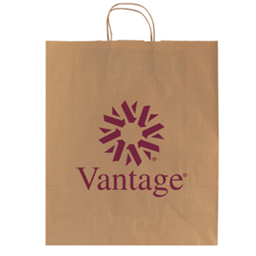Natural Kraft Shopping Bag - 16 x 19