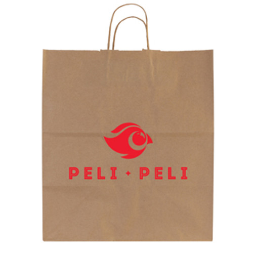 Natural Kraft Shopping Bag - 14.5 x 16.25