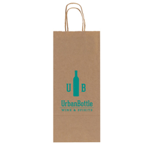 Natural Kraft Shopping Bag - 1 Bottle - 5.3 x 12.5