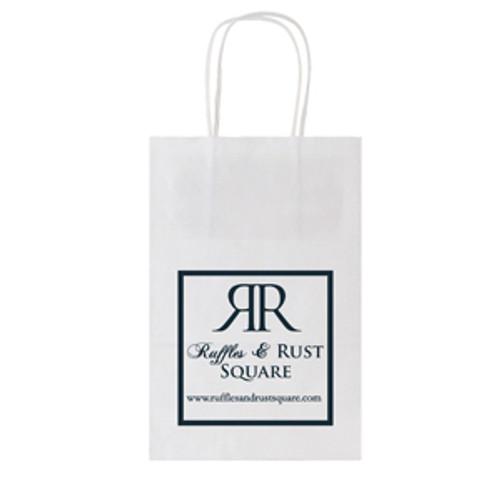 White Kraft Shopping Bag - 5.3 x 8.5