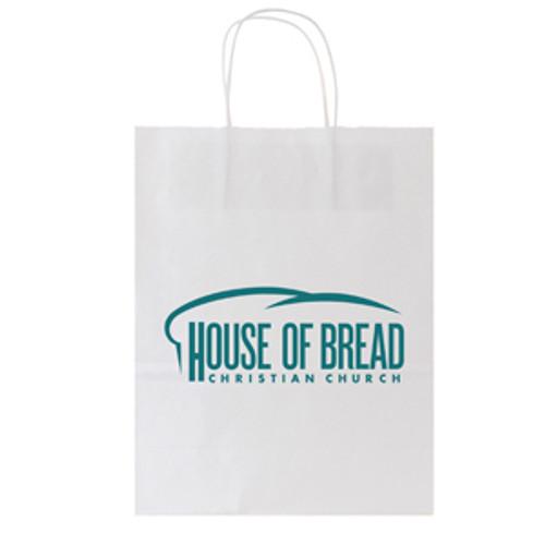 White Kraft Shopping Bag - 10 x 13