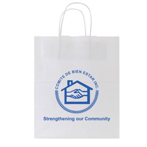 White Kraft Shopping Bag - 10 x 12.5