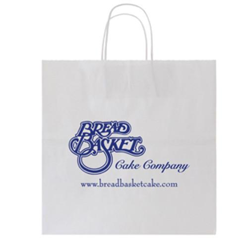 White Kraft Shopping Bag - 13 x 13
