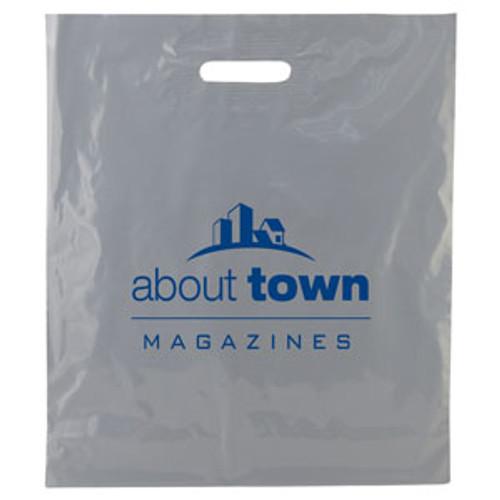 Color Patch Handle Bag 2.5 Mil. - 16 x 18 (Gray)