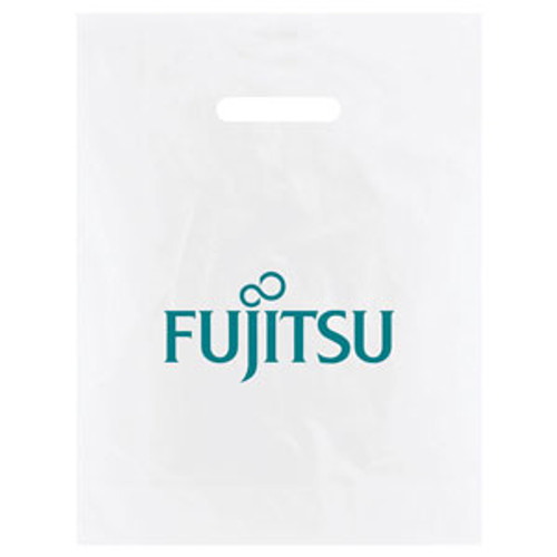 Frosted Die Cut Merchandise Bags - 12 x 15