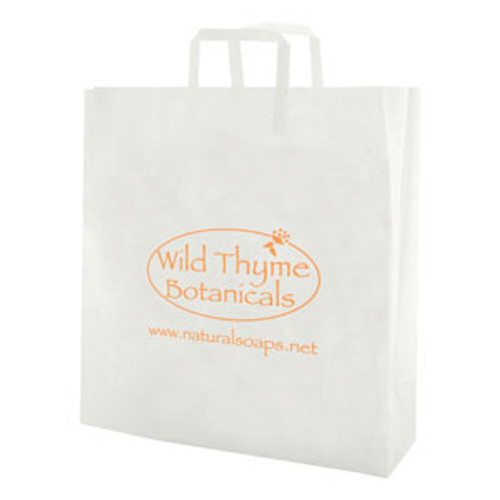 Clear Frosted Tri-Fold Handle Shopping Bags - 10 x 13