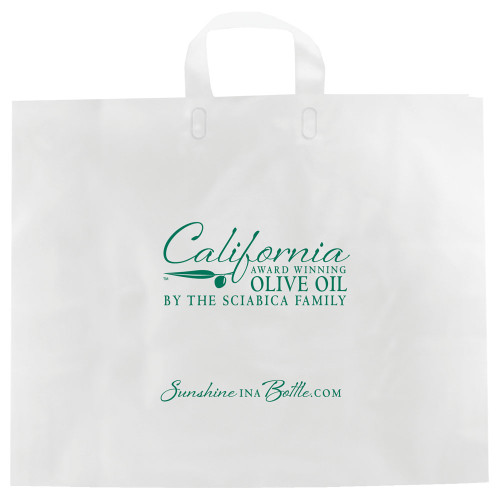 Color Frosted Soft Loop Handle Bags - 16 x 15