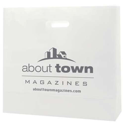 Frosted Die Cut Totes - 16 x 15