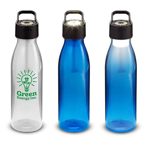24 oz. Co-Polyester Water Bottle with Rechargeable Cob Light in Lid