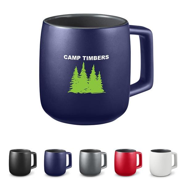 15 oz. Geo Square Handle Ceramic Mug
