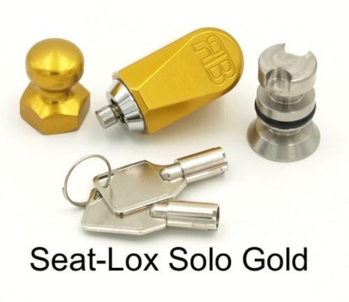 Solo seat lock gold anodized finish