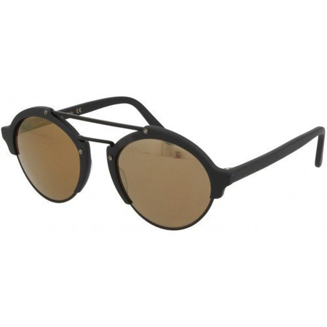 05c710810a5aa Illesteva Milan II Matte Black   Gold Sunglasses - CHROME