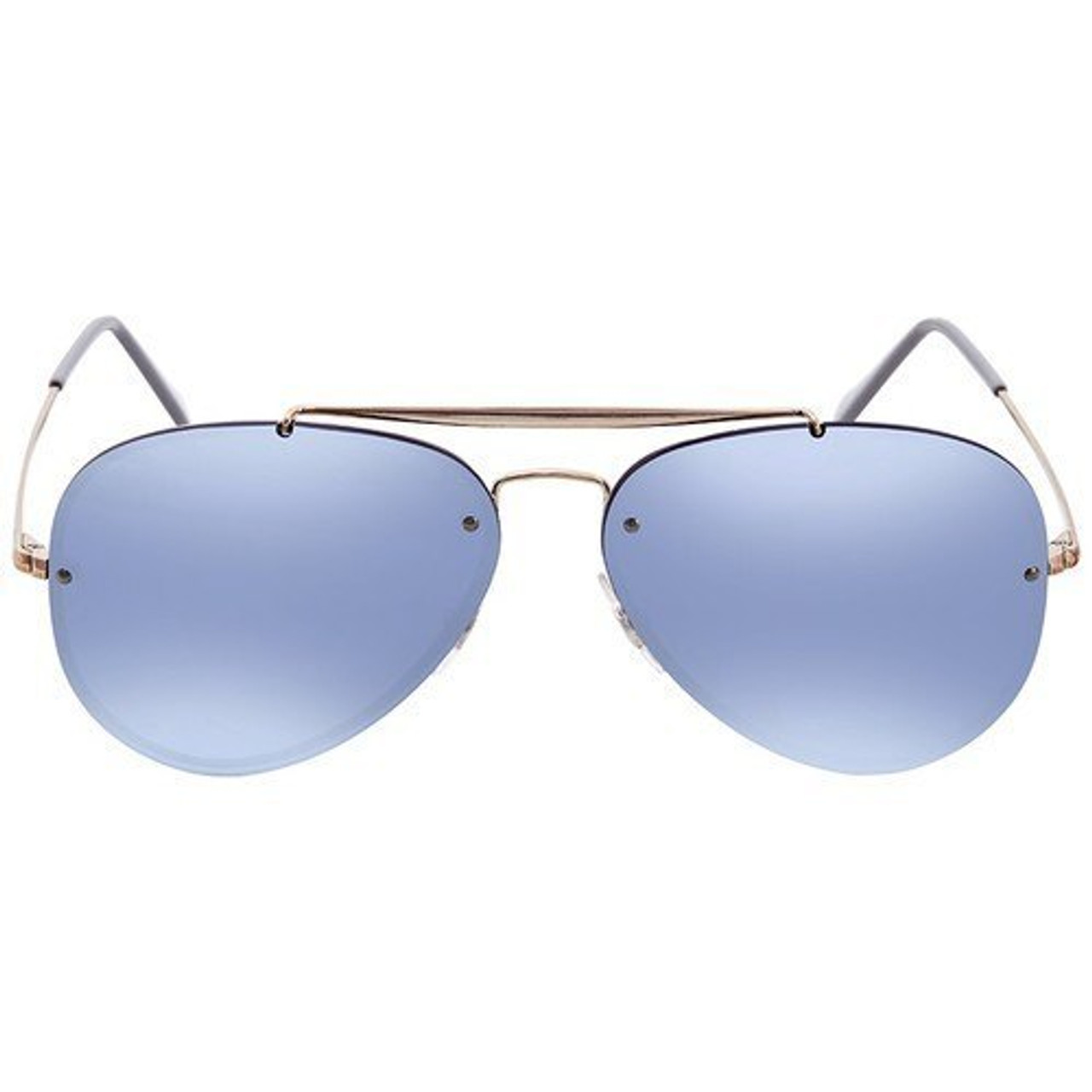 10803fc10a63b7 Ray-Ban Highstreet Blaze Aviators In Copper Bronze Violet Mirror - CHROME