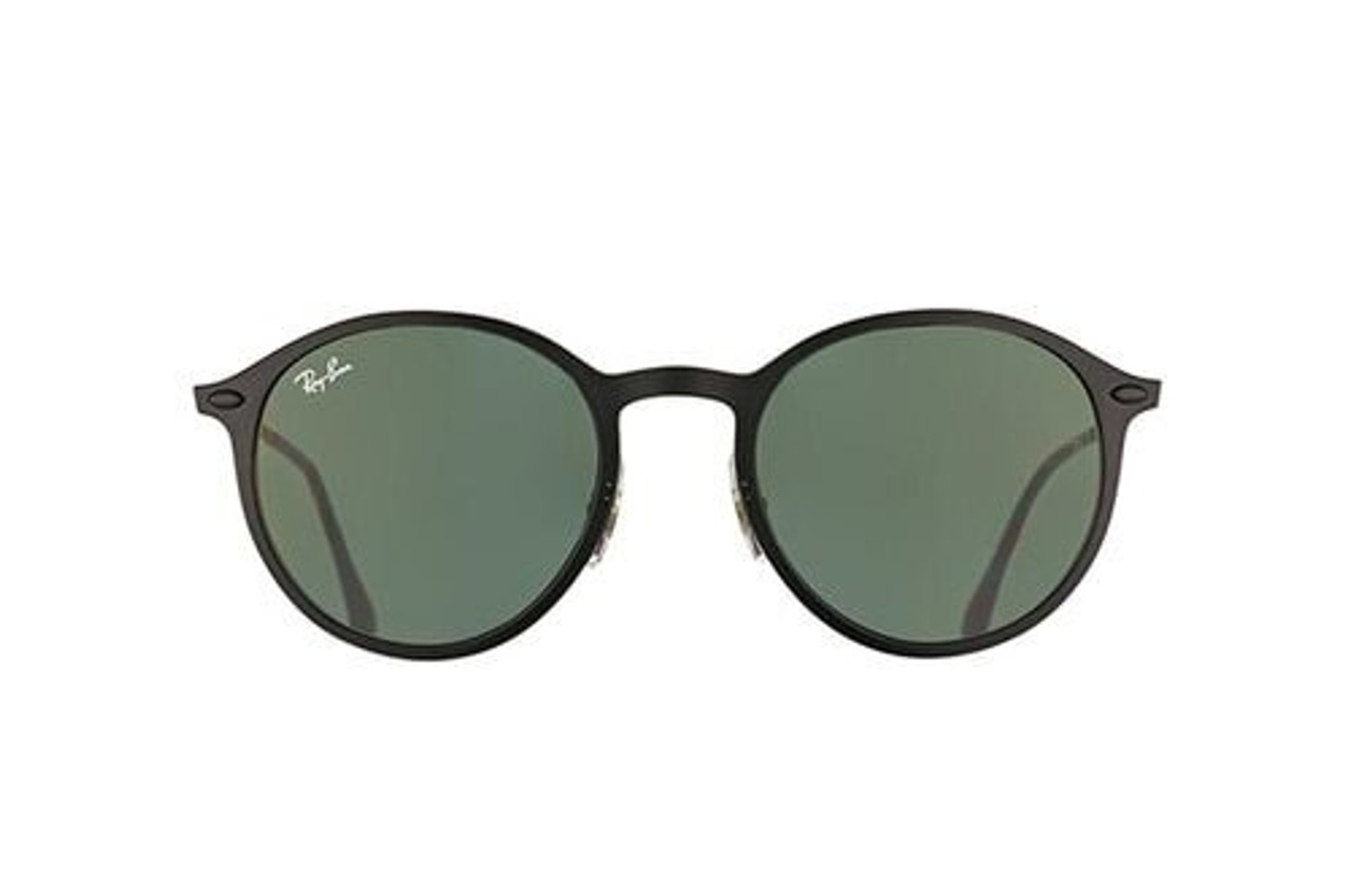 9a10a3db3ae Ray-Ban Round Light Ray Sunglasses In Black Green Classic - CHROME