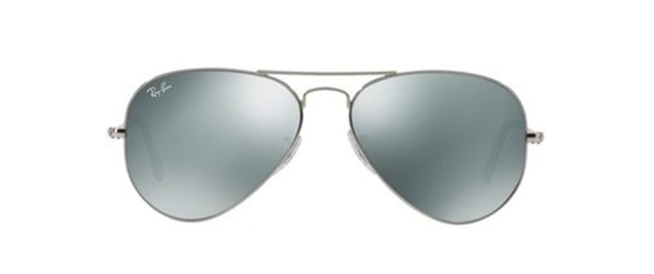 18d1ea07438 Ray-Ban Aviator Sunglasses In Silver Crystal Grey Mirrored - CHROME