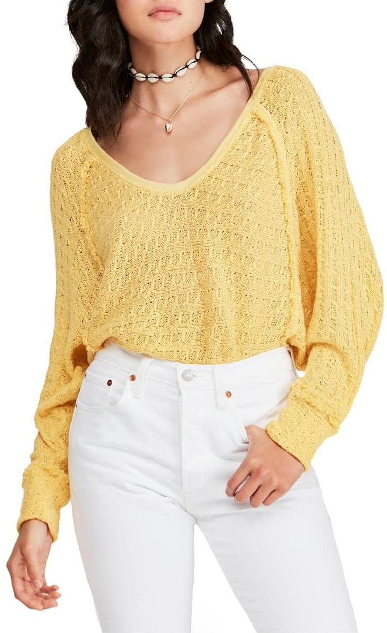 a0f194d9c7f9 Free People We The Free Thien's Hacci Top In Yellow - CHROME