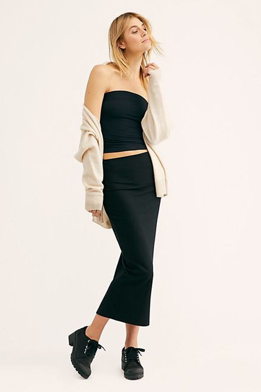 c0137d2629d Free People Show Me Solid Tube Top In Black In XS - CHROME