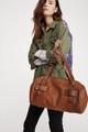 Free People We The Free Brown Leather Duffel Bag