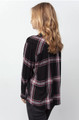 Rails Dylan Plaid Button-Down Long Sleeve In Jet White Ruby