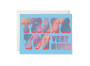 Thank You Typography Foil Greeting Card