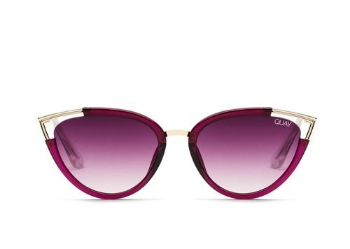 d8f31ecb1b4b QUAY Hearsay Red With Purple Fade Sunglasses - CHROME