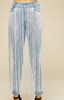 LONG FRINGE FRONT DENIM