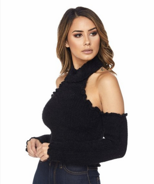 """The """" Chrissy"""" Cold Shoulder Sweater"""