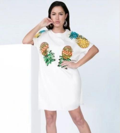 Embellished Tshirt Dress