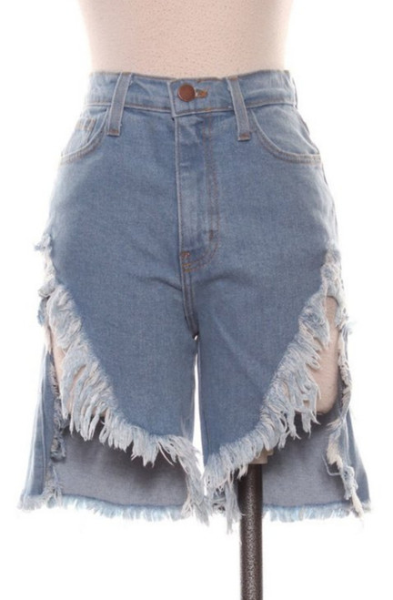 "THE ""THIGH HIGH"" DENIM SHORTS"