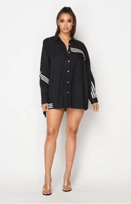 "OVERSIZED ""ADI-SPORT"" BUTTON UP"