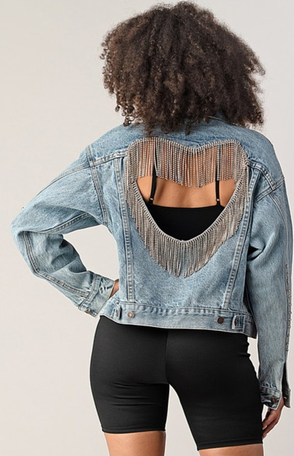 """EAT YOUR HEART OUT"" DENIM JACKET"