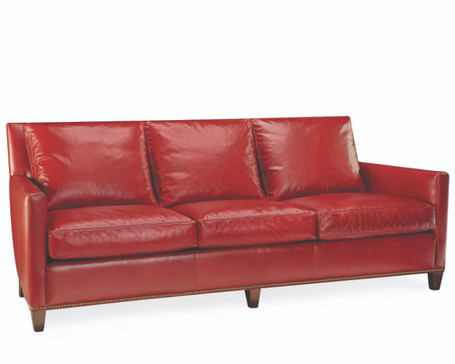 Leather Three Seat Sofa by Lee Industries at Artful Lodger in Charlottesville, VA