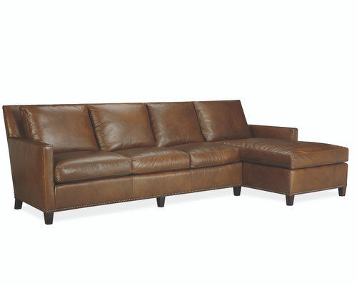 Lukas Leather Sectional L1296-Series by Lee Industries at Artful Lodger in Charlottesville, VA